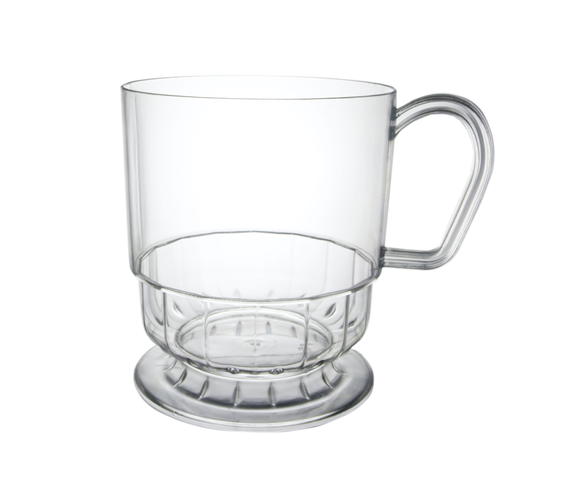 CUP 8OZ. DELUXE COFFEE CLEAR 10/PK