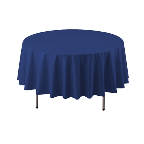 COVER TABLE NAVY 84 ROUND