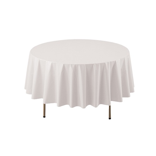 COVER TABLE WHITE 84 ROUND