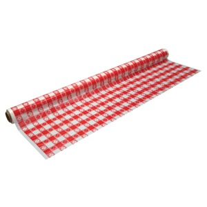 ROLL TABLE 40x150' RED GINGHAM