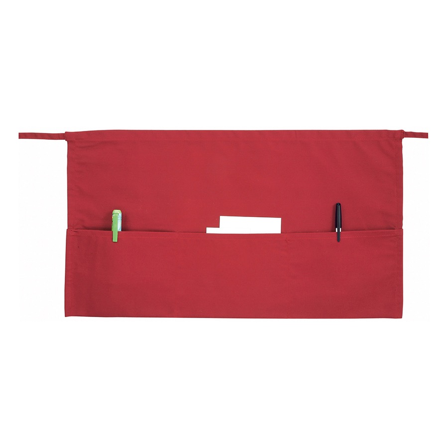 APRON WAIST RED 21X12 3 POCKET
