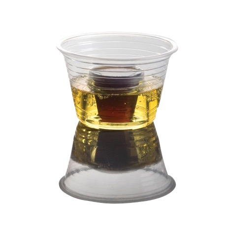 PARTY BOMBER SHOT CUPS 1oz INNER 2-/34oz OUTER CLEAR 25/PK