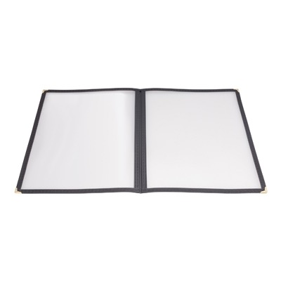 MENU COVER DBL FOLD 8-1/2x11 BLACK