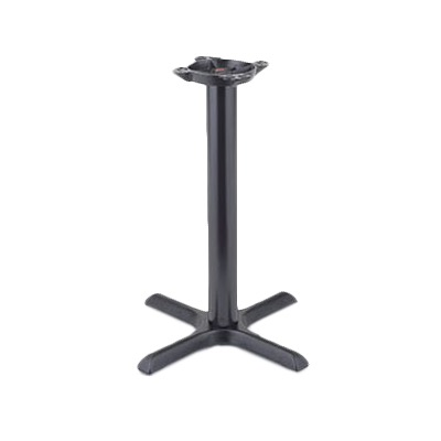 TABLE BASE 22X22 BLACK BASE W/3 BLACK COLUMN (2015)