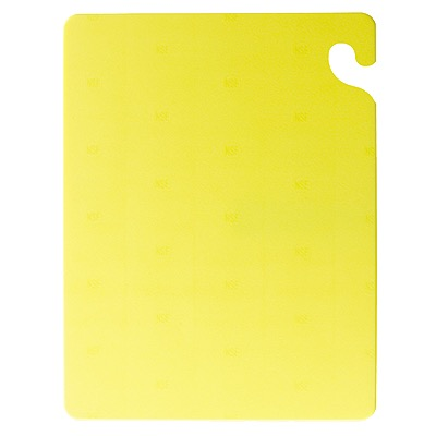 CUTTING BOARD 12X18X1/2 YELLOW(POULTRY)