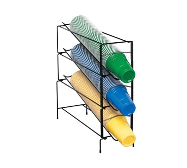 CUP DISPENSER WIRE RACK ADJUSTABLE 3-SECT