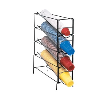 CUP DISPENSER WIRE RACK 4-SECTION ADJUSTABLE