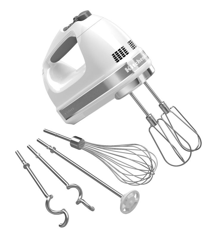 HAND MIXER 9-SPEED WHITE W/GRAY TRIM