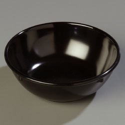 CARLISLE NAPPIE BOWL 14 OZ MELAMINE BLACK 48/CS