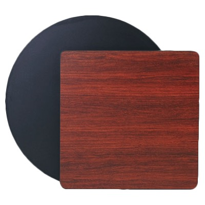 TABLE TOP 36X36 REVERSIBLE BLACK/MAHOGANY