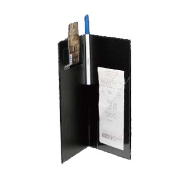 CHECK HOLDER BLACK 10-1/2x5-1/2 GROOVED SPINE