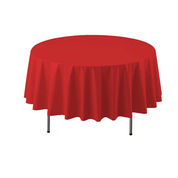 COVER TABLE RED 84 ROUND