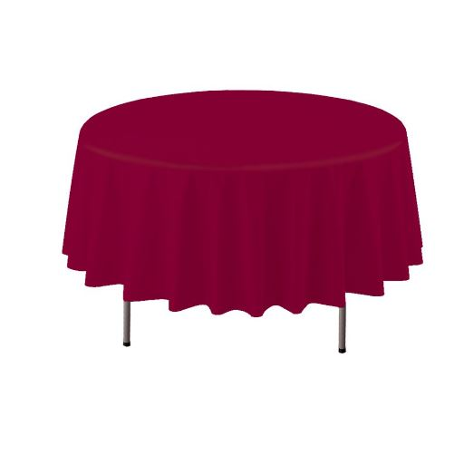 COVER TABLE BURGUNDY 84 ROUND