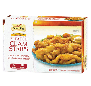 CLAM STRIP BREADED 10 OZ