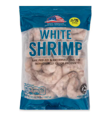 SHRIMP RAW 21/25 P&D TAIL ON POF 2#